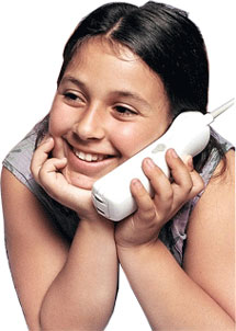 Girl on free government phone